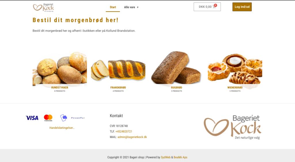 bageri webshop